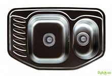Мийка 7851D, врізна 780х510х180 Сатин 0,8 см (без отвору під змішувач) Platinum