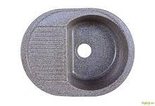 Мойка 6247, врезная гранитная (без отверстия под смеситель) Platinum