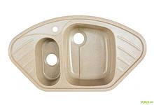 Мийка 9250 UW, врізна гранітна (з отвором під змішувач) Platinum