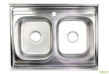 Мойка 8060D, накладная 800х600х160 Полировка 0,7 см (с отверстием под смеситель) Platinum