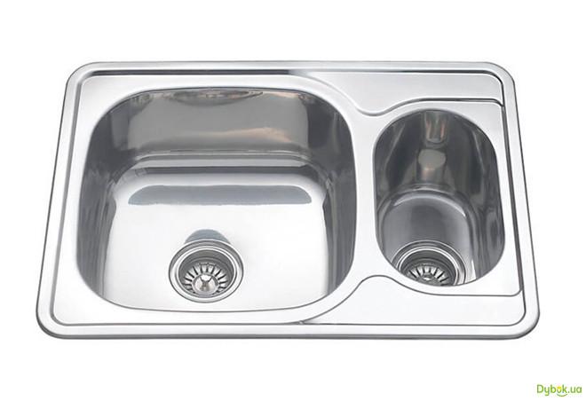 Мийка 7050D, врізна 700х500х180 Декор 0,8 см (без отвору під змішувач) Platinum