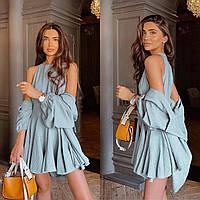 Летнее короткое платье с рубашкой