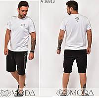 Мужские летние костюмы шорты и футболка размер 44-52