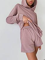 Летний женский костюм  из двунитки кофта и шорты, фото 1