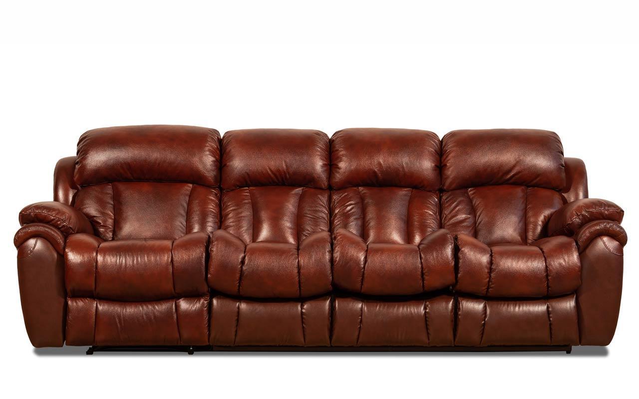 Шкіряний, чотиримісний, розкладний диван Бостон з реклайнером