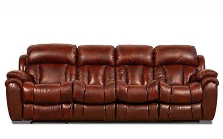 Шкіряний, чотиримісний, розкладний диван Бостон з реклайнером, фото 2