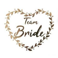 """Флеш тату на дівич-вечір """"Team Bride"""" серце"""