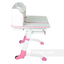 Універсальний комплект для дівчинки парта FunDesk Amare II Pink + крісло Fundesk Mente Pink з підлокітниками, фото 3