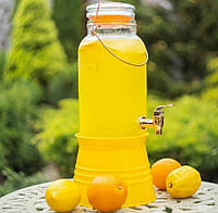Лимонадник с краном на подствке Ведро 4 литра (9036)