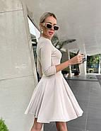 Лаконичное женское платье с юбкой-солнце из плотного джерси, 00890 (Бежевый), Размер 42 (S), фото 2
