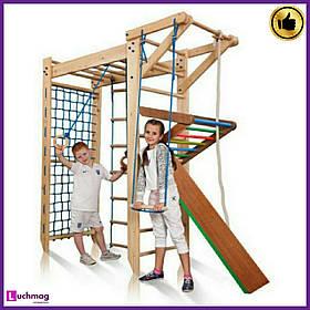 """Детский деревянный уголок """"П-образный """"Sport 5-220"""" ТМ SportBaby для детей от 6 лет"""
