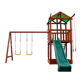 Дитячий спортивний дерев'яний майданчик Babyland-2, розмір 3.2х 4.1 х 3.8м