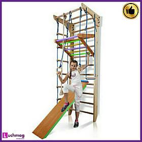 Спортивный деревянный уголок «Kinder 3-240» ТМ SportBaby для детей от 6 лет