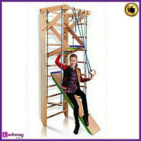 Спортивный деревянный уголок «Sport 3-240» ТМ SportBaby для детей от 6 лет
