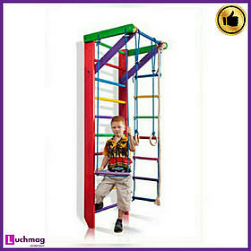 Спортивный деревянный цветной уголок «Барби 2-220» ТМ Sportbaby для детей от 6 лет