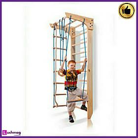 Детский спортивный деревянный уголок «Kinder 2-220» ТМ Sportbaby для детей от 6 лет