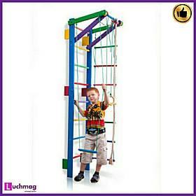 Шведская деревянная цветная стенка Teenager-2-220 (blue) ТМ SportBaby для детей от 6 лет