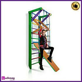 Спортивный деревянный цветной уголок «Робин Гуд 3-240» ТМ SportBaby для детей от 6 лет