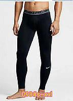 Термо-штаны Nike Pro 2021 мужские  компрессионные штаны для спорта подштанники термобелье термокальсоны, фото 1