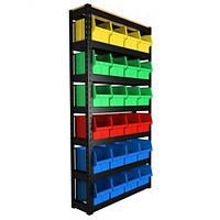 Стеллаж под 700 ящики (цветные)