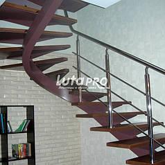 Лестница на спиральной балке