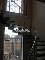 Лестница на больцах из ясеня и нержавейки, фото 3