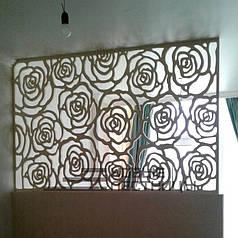 3Д панель троянди