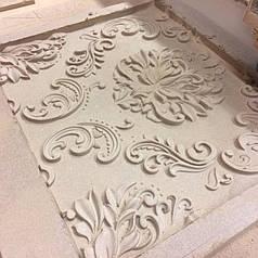 3Д панелі з мдф - орнамент з квітів