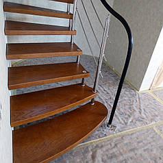 Ступені цельноламельные для дерев'яних сходів