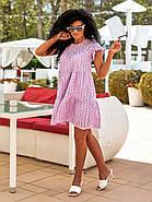 Легкое летнее женское платье из прошвы плюс подкладка, 00895 (Лиловый), Размер 44 (M), фото 3