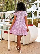 Легкое летнее женское платье из прошвы плюс подкладка, 00895 (Лиловый), Размер 44 (M), фото 4