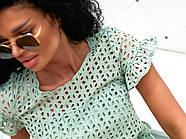 Жіноче плаття з прошви на підкладці, короткий рукав, 00896 (Олівковий), Розмір 44 (M), фото 6