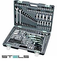 Набор инструмента 216 предметов Stels 14115 усиленный кейс, вечная гарантия