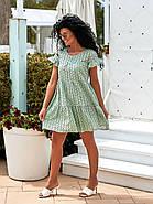 Жіноче плаття з прошви на підкладці, короткий рукав, 00896 (Олівковий), Розмір 42 (S), фото 2