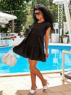 Короткое летнее платье из прошвы с коротким рукавом, 00897 (Черный), Размер 42 (S), фото 2