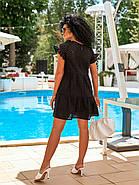 Короткое летнее платье из прошвы с коротким рукавом, 00897 (Черный), Размер 42 (S), фото 3