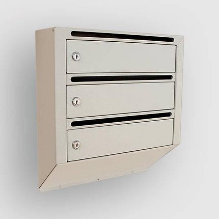 Ящик почтовый металлический на 3 квартиры, фото 2