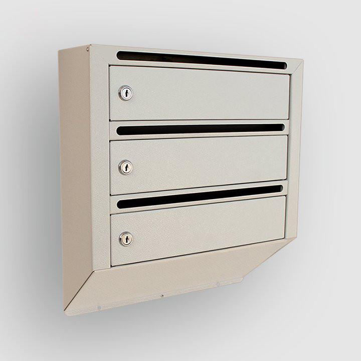 Ящик почтовый металлический на 3 квартиры