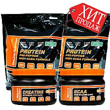 Оптимальный Масс Набор Комплекс: 4 кг Протеин Ice Cream + Креатин и ВСАА в капсулах
