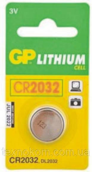 Батарейка GP CR2032 литиевая 3V Lithium, цена за 1шт