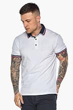 Модна біла футболка поло чоловіча модель - 5785