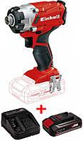 Набір ударна викрутка безщіткова Einhell TE-CI 18 Li BL-Solo + зарядний пристрій і акумулятор 18V 3,0 Ah