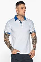 Модна біла футболка поло чоловіча модель - 5216