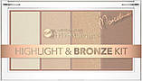 Палетка хайлайтеров і бронзера для особи Bell HYPOAllergenic Highlight & Bronze Kit by Marcelina 20 г, фото 2
