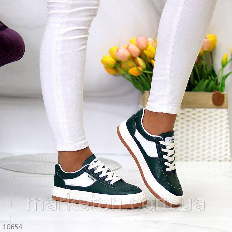 """Жіночі повсякденні кросівки Зелені """"Lanti"""""""