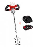Набор Миксер-мешалка аккумуляторный Einhell TE-MX 18 Li - Solo + зарядное устройство и аккумулятор 18V 2,5 Ah