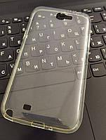 Чехол силиконовый прозрачный Samsung Note 2 7100, 0,5mm
