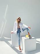 Легкий и модный женский пиджак с карманами, 00900 (Белый), Размер 42 (S), фото 2