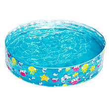 Каркасный детский круглый бассейн Bestway 55028 от 2-х лет 122 х 25 см