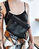 Поясная нагрудная сумка бананка BOARD кожаная, фото 6